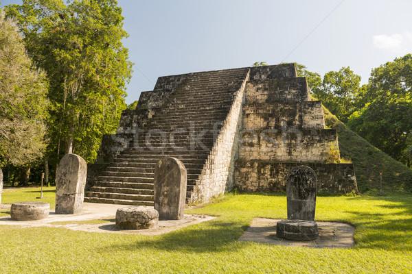 Complex Q Tikal Ruins Guatemala Stock photo © THP