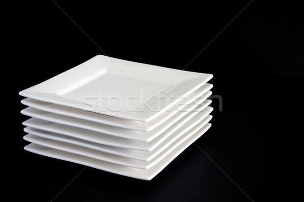 белый пластин черный современный квадратный Сток-фото © THP