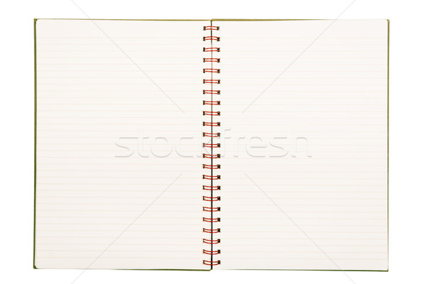 Lined Paper Notebook Isolated Stock photo © THP