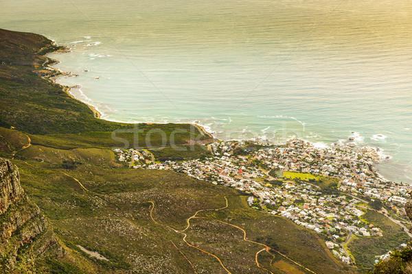 Douze Le Cap Afrique du Sud océan bleu Afrique Photo stock © THP