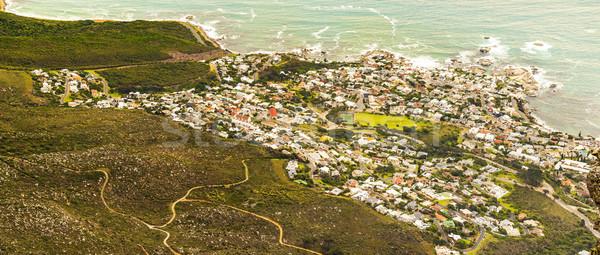 Foto stock: Ver · África · do · Sul · tabela · montanha · Cidade · do · Cabo