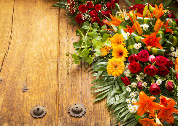 Floral Wreath With Copy Space Stock photo © THP