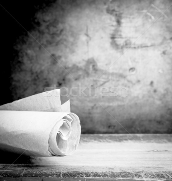 Old Parchment Paper Scroll Stock photo © THP