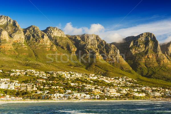 12 南アフリカ ケープタウン ビーチ 空 日没 ストックフォト © THP