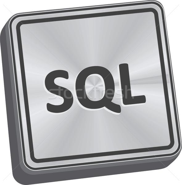 Sql przycisk 3D kluczowych metal Zdjęcia stock © THP