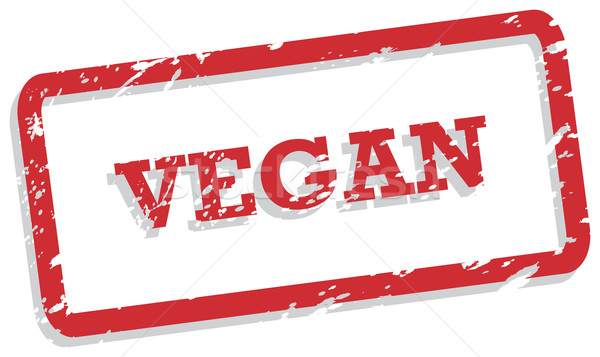 Vegan rouge vecteur accueillant alimentaire Photo stock © THP