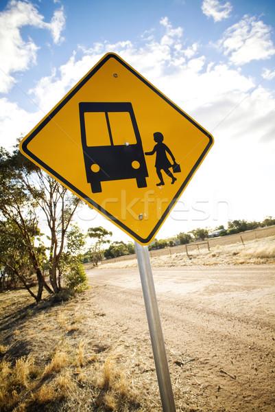 Otobüs durağı kırsal okul taşıma durdurmak Stok fotoğraf © THP