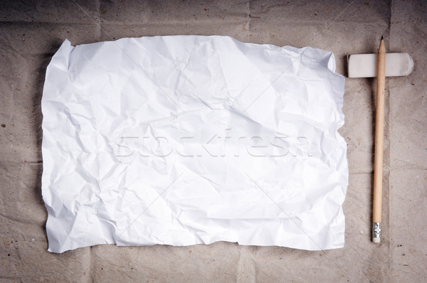 ストックフォト: 紙 · 書く · アップ · シート · 白 · 鉛筆