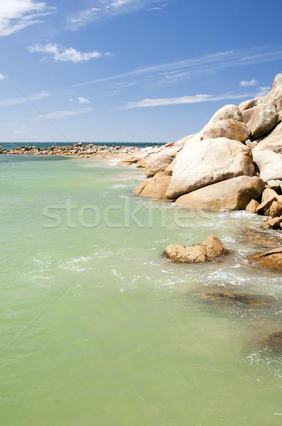 Hoefijzer mooie toeristische attractie haven Stockfoto © THP