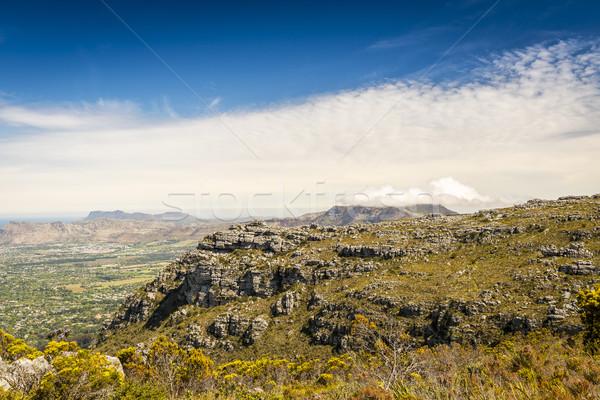 Stock fotó: Felső · asztal · hegy · kilátás · Fokváros · Dél-Afrika