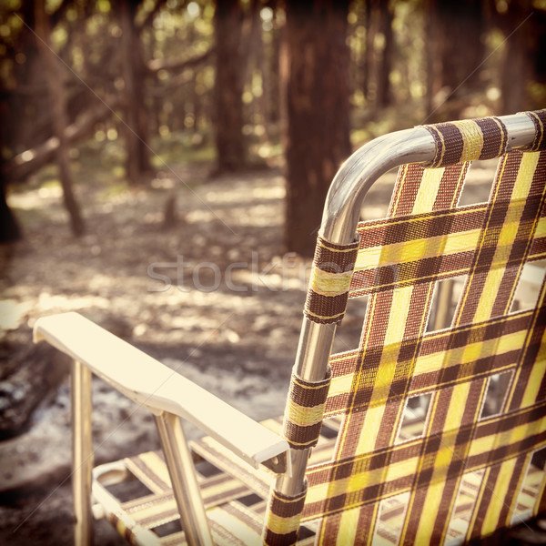 Camping Chair Instagram Style Stock photo © THP