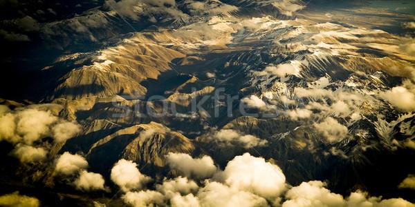 Aéreo montanas montana nieve Foto stock © THP