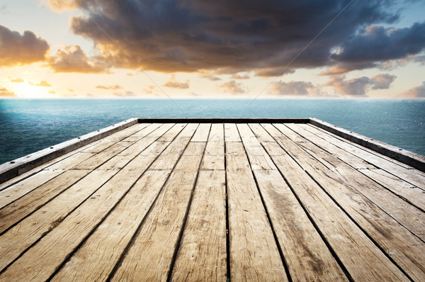 Wooden Surface Sky Background Stock photo © THP