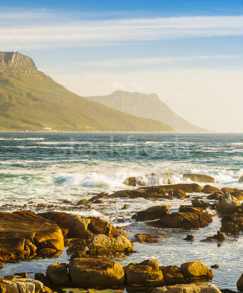 Coastal Rocks and Mountains Stock photo © THP