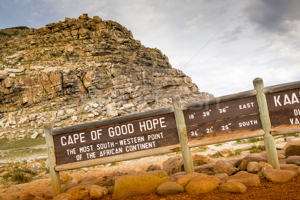 Cape of Good Hope Sign Stock photo © THP