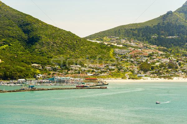 港 町 南アフリカ ビーチ 夏 海 ストックフォト © THP