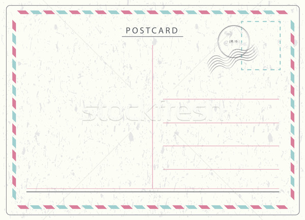 Seyahat kartpostal vektör hava posta stil Stok fotoğraf © THP
