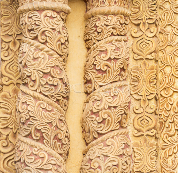 Decorative Carvings As Textured Background Stock photo © THP