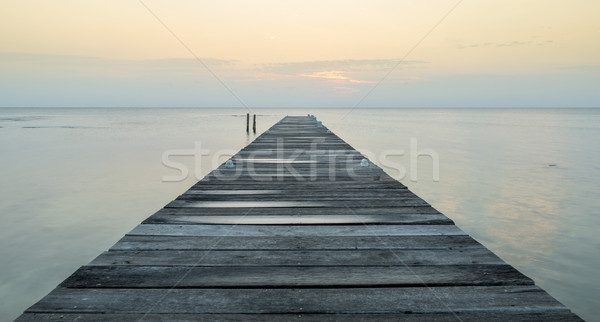 Wooden Jetty At Dawn Stock photo © THP