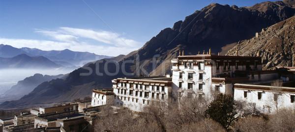 Monastère tibet vieux bâtiments bouddhique fenêtre Photo stock © THP