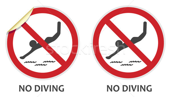 No Diving Sign Stock photo © THP