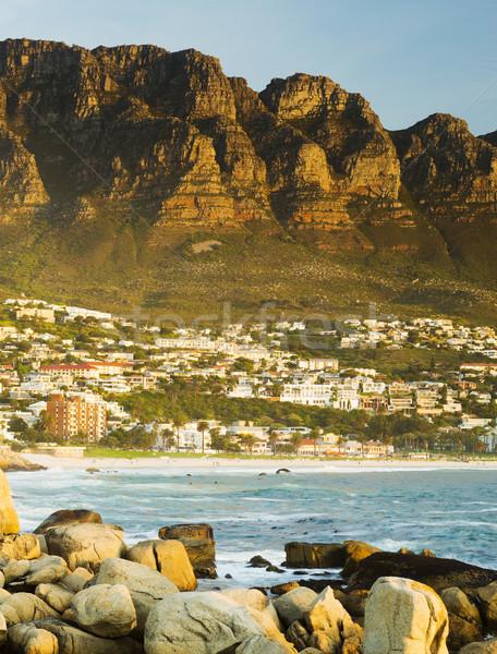 закат Кейптаун пляж небе природы морем Сток-фото © THP