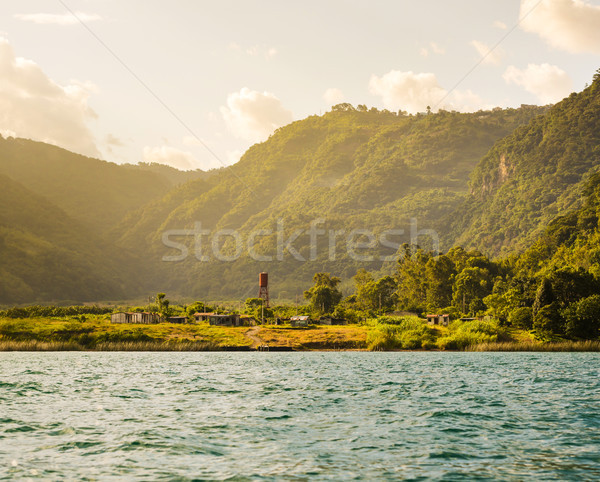 Lakeside Town Guatemala Stock photo © THP