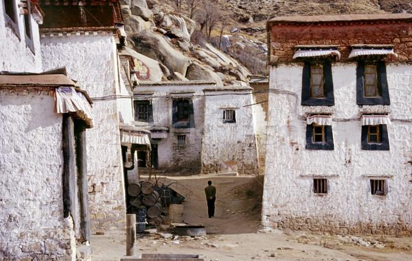 Monastère tibet chiffre vieux bâtiments Photo stock © THP