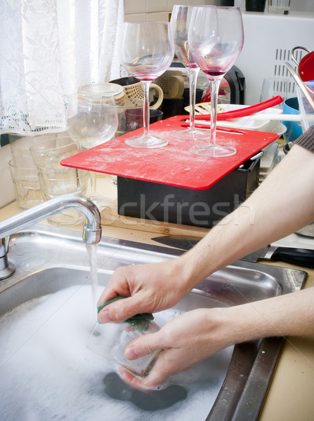 Cleaning Dishes Stock photo © THP