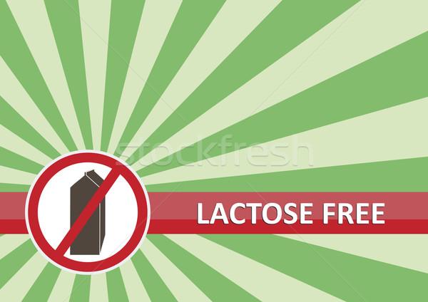 Lactose libre bannière alimentaire allergie signe Photo stock © THP
