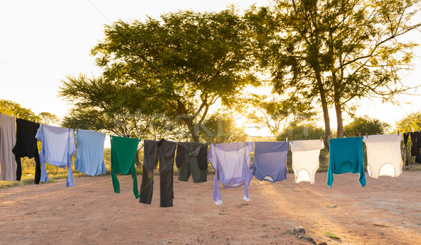 Laundry Drying on Outdoor Clothes Line Stock photo © THP