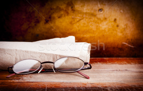 Old Glasses on Desk Stock photo © THP