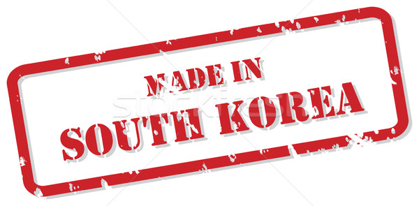 Zuid-Korea stempel Rood vector ontwerp Stockfoto © THP