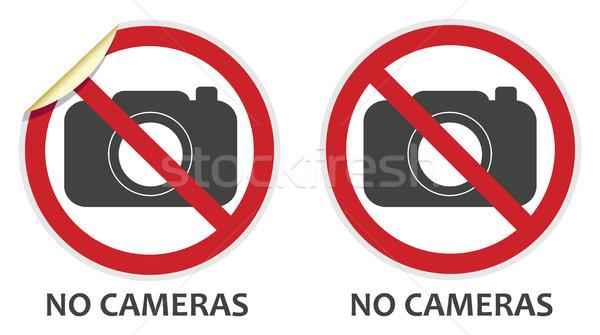 Stock photo: No Cameras Sign
