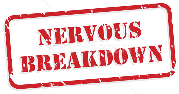 Nervous Breakdown Rubber Stamp Stock photo © THP