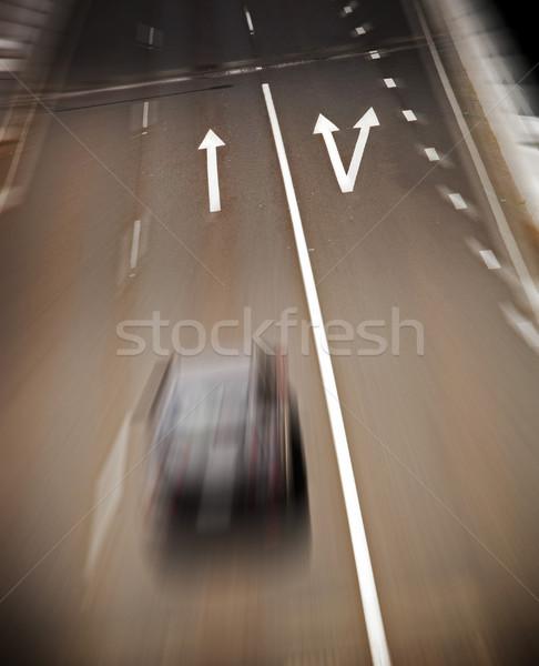 Foto d'archivio: Strada · frecce · Blur · verniciato · autostrada