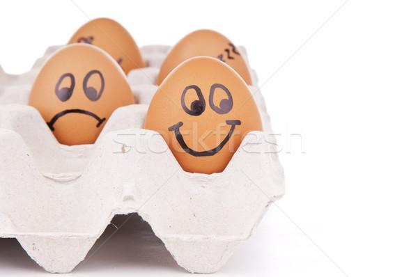 Jaj jaj ludzi odizolowany biały Zdjęcia stock © THP