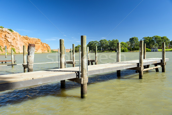 Murray River Jetty Stock photo © THP