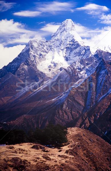 Nepal everest bölge dağ Stok fotoğraf © THP