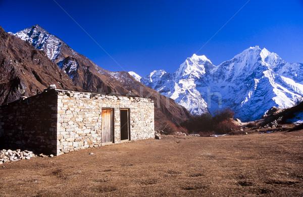 Köy iz Everest Dağı kamp Nepal Stok fotoğraf © THP