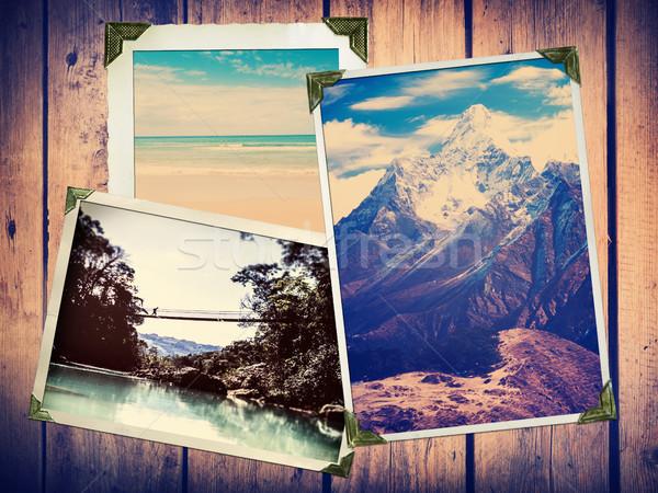 Vintage viajar fotos estilo aventura foto antiga Foto stock © THP