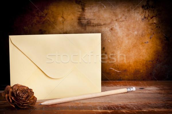 Vintage Envelope Background Stock photo © THP