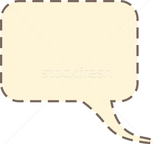 Tekstballon grafische zwaar stippel schets Stockfoto © THP