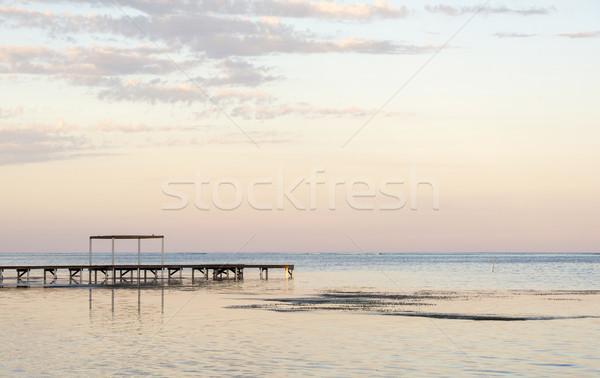 Wooden Dock In Ocean Stock photo © THP