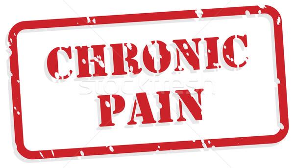 Douleur rouge vecteur santé mentale tampon Photo stock © THP