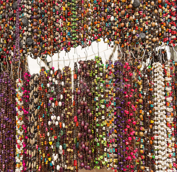 Colorful Beads As Background Texture Stock photo © THP