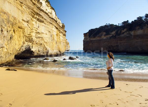 Muhteşem okyanus yol Avustralya oniki kadın Stok fotoğraf © THP