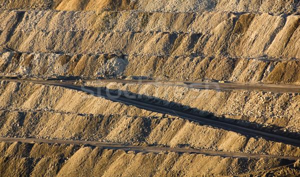 Mijnbouw reusachtig muren aarde wegen groot Stockfoto © THP