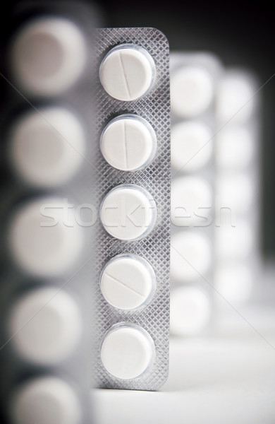 Medicina escuro iluminação preto farmácia Foto stock © THP