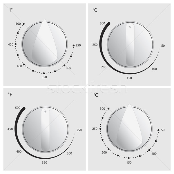 Oven Dial Vector Stock photo © THP